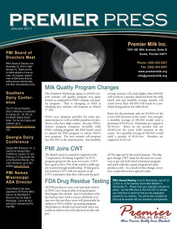 January - Premier Milk, Inc.