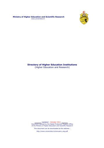 Directory of Higher Education Institutions (Higher Education and ...