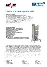 IB05 svenskt datablad - Oleinitec AB