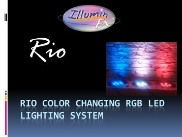 Rio Color Changing RGB LED Lighting System - Pondliner.com