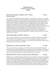 English Department Graduate Course Descriptions fall 2012 ...