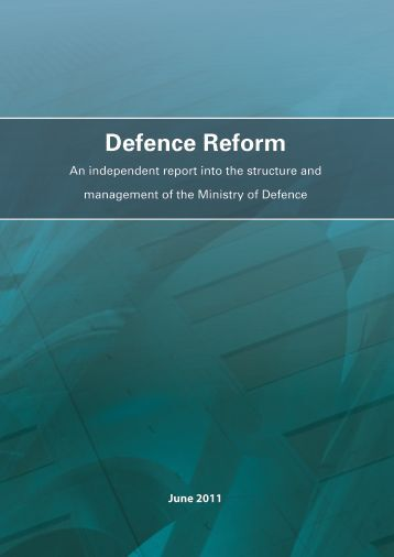 Defence Reform Report 2011 - Defence Academy of the United ...