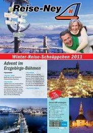 Prospekt Winter-Reise-Schnäppchen 2011 als PDF - Reise-Ney