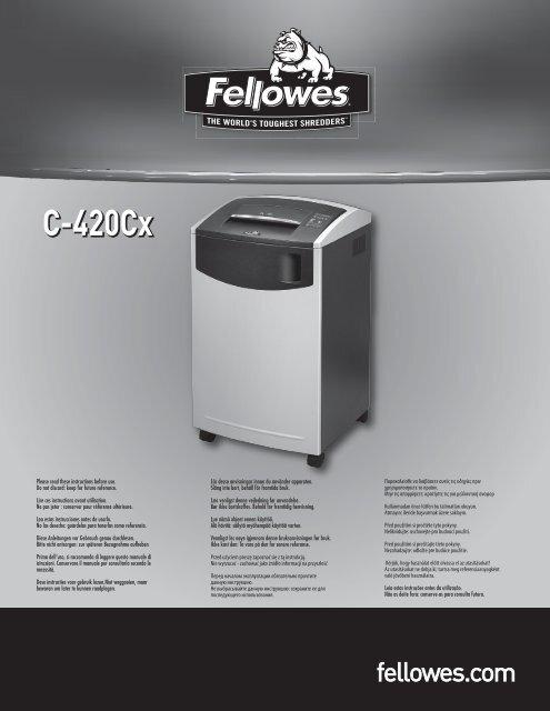 C-420Cx C-420Cx - Fellowes