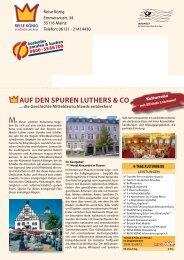 AUF DEN SPUREN LUTHERS  & CO - Reise König