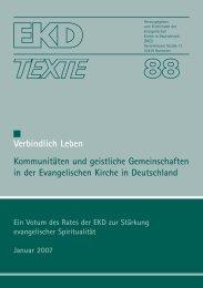 EKD Texte 88.qxd - Vineyard Gemeinschaften