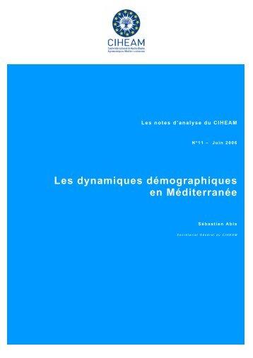 Les dynamiques démographiques en Méditerranée