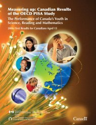 Measuring up: Canadian Results of the OECD PISA Study - Canada