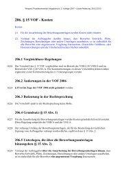 206. § 15 VOF - Kosten - Oeffentliche Auftraege