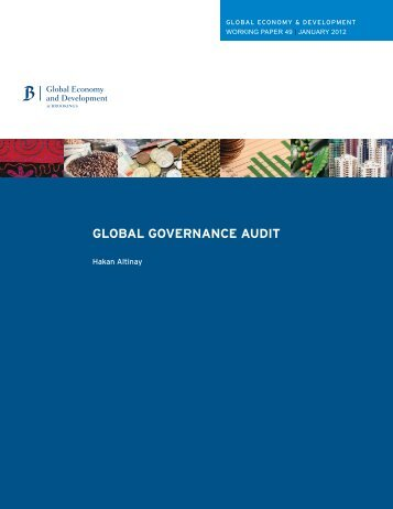 GLOBAL GOVERNANCE AUDIT - Brookings Institution