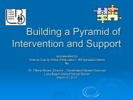 Building a Pyramid of Support - Ventura County Office of Education