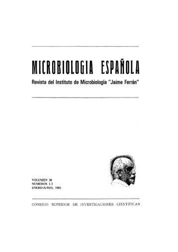 Vol. 38 núm. 1 y 2 - Sociedad Española de Microbiología