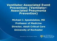 Ventilator-Associated Event Prevention - NYS Partnership for Patients
