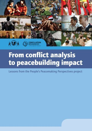 From conflict analysis to peacebuilding impact - Saferworld