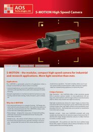 S-MOTION High Speed Camera