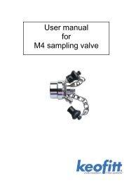 User manual for M4 sampling valve - Keofitt