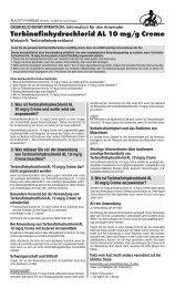 Terbinafinhydrochlorid AL 10 mg/g Creme - Aliud Pharma GmbH ...