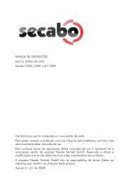 MANUAL DE INSTRUÇÕES para os plotters de corte Secabo C30III ...