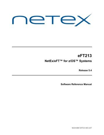 Introduction to NetEx/eFT and z/OS