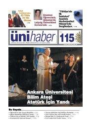 †NÜHABER 115 - Ankara Üniversitesi