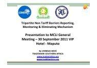 Non-Tariff Barriers to Trade: Ms Vonesai Hove - MCLI