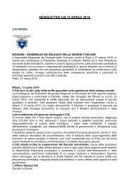 NEWSLETTER CAI 15 APRILE 2010 CAI NEWS - Club Alpino Italiano
