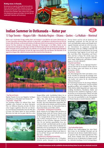 Indian Summer in Ostkanada – Natur pur