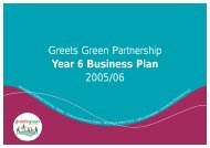 2005/2006 - The Greets Green Partnership Legacy Website