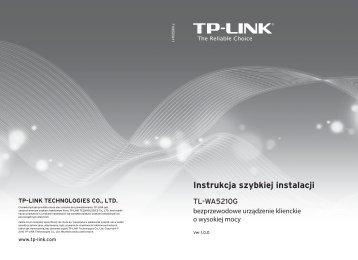 TL-WA5210G V1 Instrukcja szybkiej instalacji - TP-Link