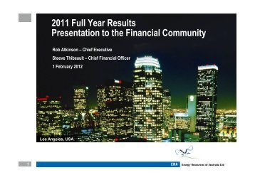 full year results 2011 [PDF: 932 KB] - Energy Resources of Australia ...