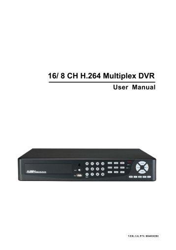 H.264 4 CH Multiplex DVR
