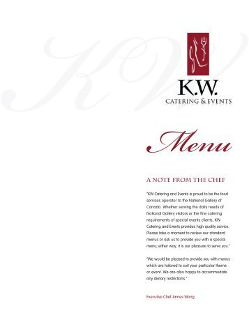Menu - KW Catering & Events