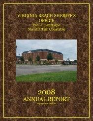 ANNUAL REPORT - Virginia Beach Sheriff's Office