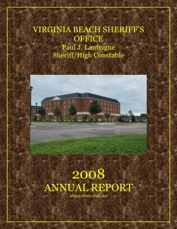 ANNUAL REPORT - Virginia Beach Sheriff's Office