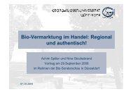 Bio-Vermarktung im Handel: Regional und ... - Messe Düsseldorf