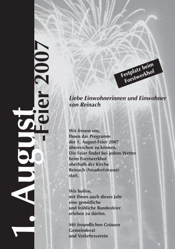1.August -Feier 2007 - Reinach