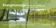 Klangmassage Marke Brandenburg - Reiseland Brandenburg