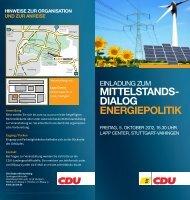 mittelstands- dialog energiepolitik - CDU Baden-Württemberg