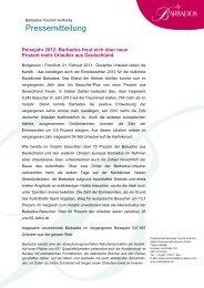 Reisezahlen 2012_Neun Prozent mehr deutsche ... - Visit Barbados