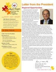 Letter from the President - American Burn Association