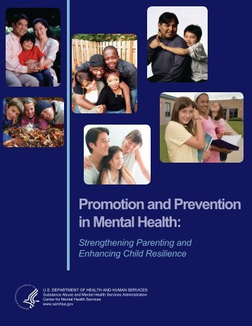 Promotion and Prevention in Mental Health: - SAMHSA Store ...