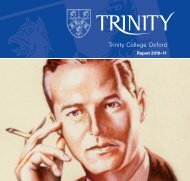 Report 2010-11 - Trinity College - University of Oxford