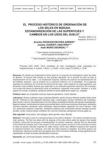 EL PROCESO HISTÓRICO DE ORDENACIÓN DE LOS ... - ingeba