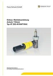 Einbau-/Betriebsanleitung - Franz Schuck GmbH