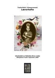 Lærerhefte til Evelyn og de grønne - PDF(756 KB) - Hålogaland Teater
