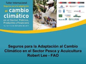 Diapositiva 1 - Proyecto de Seguros para la adaptación al cambio ...