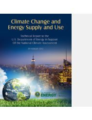Climate Change and Energy Supply and Use - Environmental ...