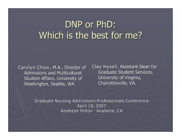 DNP or PhD: Which is the best for me? - AACN