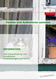 Fenster und Außentüren sanieren (0.94 MB) - Klimarettung