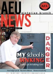 MY school is sinking - Australian Education Union, Victorian Branch